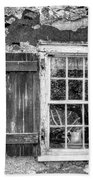 Black And White Cottage Window Beach Towel