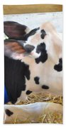 Black And White Cow 2 Beach Towel