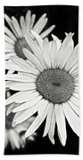 Black And White Daisy 3 Beach Towel