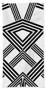 Black And White Diamond Beach Towel