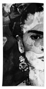 Black And White Frida Kahlo By Sharon Cummings Beach Towel