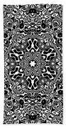 Black And White Mandala 34 Beach Towel by Robert Thalmeier