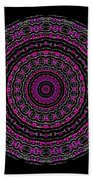 Black And White Mandala No. 3 In Color Beach Towel