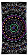 Black And White Mandala No. 4 In Color Beach Towel