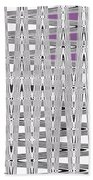 Black And White Metal Panel Abstract Beach Towel