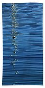 Black And White On Blue Beach Towel