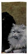Black And White Persians Beach Towel