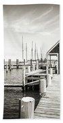 Black And White Photography - Martha's Vineyard - Black Dog Wharf Beach Towel