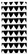 Black And White Triangles- Art By Linda Woods Beach Towel by Linda Woods
