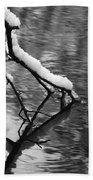 Black And White Winter Mood Beach Towel