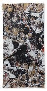 Black And White With Red And Gold Beach Towel