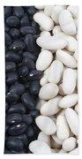 Black Beans And White Beans Beach Towel