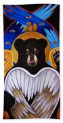 Black Bear Seraphim Beach Towel