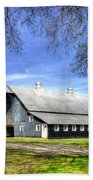 White Windows Historic Hopkinsville Kentucky Barn Art Beach Towel