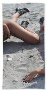 Black Bikinis 11 Beach Towel