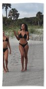 Black Bikinis 29 Beach Towel