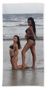 Black Bikinis 33 Beach Towel
