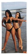 Black Bikinis 65 Beach Towel