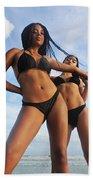 Black Bikinis 66 Beach Towel