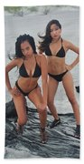 Black Bkinis 3 Beach Towel