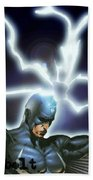 Black Bolt Beach Towel