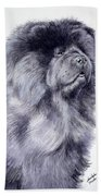 Black Chow Chow  Beach Towel