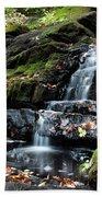 Black Creek Falls In Autumn, 2016 Beach Towel