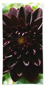Black Dalia  Beach Towel