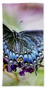 Black Eastern Swallowtail Beach Towel