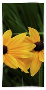 Black-eyed Susan Blossoms Beach Towel