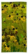 Black Eyed Susan Work Number 21 Beach Towel