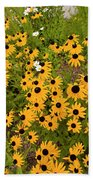 Black Eyed Susans-1 Beach Towel
