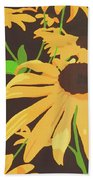 Black-eyed Susans Beach Towel
