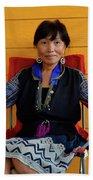 Black Hmong Sapa 3 Beach Towel