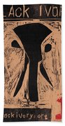 Black Ivory Issue 1 Woodcut Beach Towel