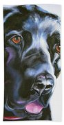 Black Lab No Ordinary Love Beach Towel