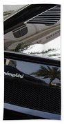Black Lamborghini Sports Car  Beach Towel