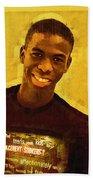 Young Black Male Teen 2 Beach Towel