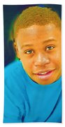 Young Black Male Teen 5 Beach Towel