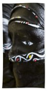 Black Masks Beach Towel