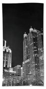 Black Night In The Windy City Beach Towel