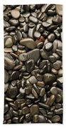 Black River Stones Portrait Beach Towel by Steve Gadomski