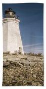 Black Rock Harbor Lighthouse II Beach Towel