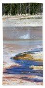 Black Sand Basin Geysers In Yellowstone National Park Beach Towel