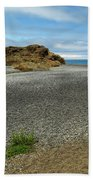 Black Sand Beach On The Lost Coast Beach Towel