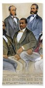 Black Senators, 1872 Beach Towel