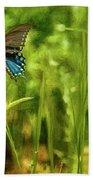 Black Swallowtail No. 2 Painterly Beach Towel