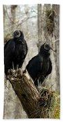 Black Vultures Beach Towel