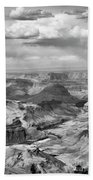 Black White Filter Grand Canyon  Beach Towel