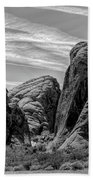 Black White Valley Of Fire  Beach Sheet